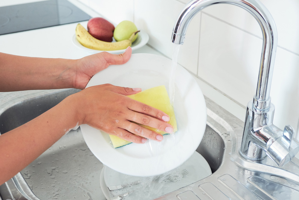 Replace washers in faucets